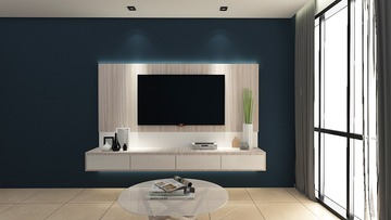 Linear tv console