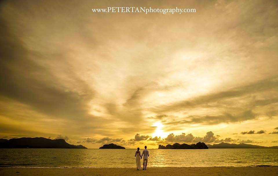 Pre-wedding photoshoot in Langkawi. Photo by Peter Tan Photography