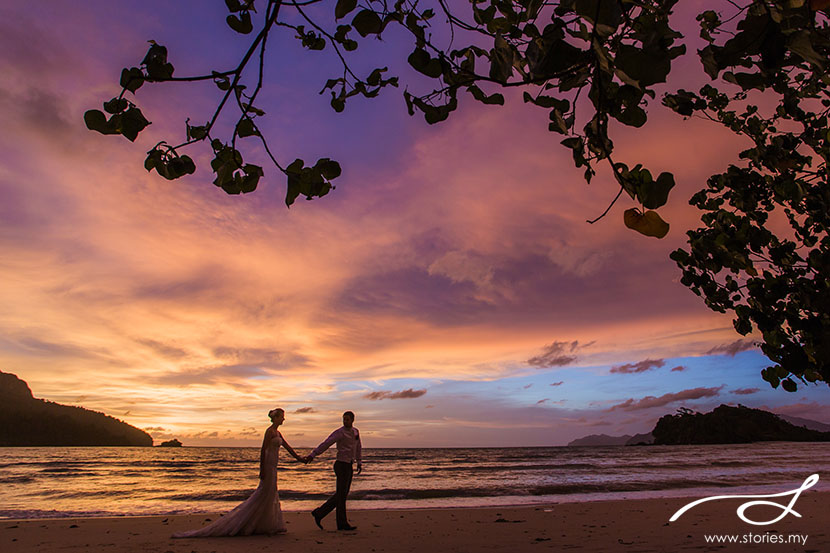 Pre-wedding photoshoot in Langkawi, Malaysia. Photo by Stories.my