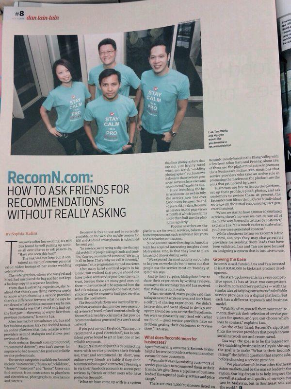 RecomN.com Edge Malaysia November 8 2014 - Edgy