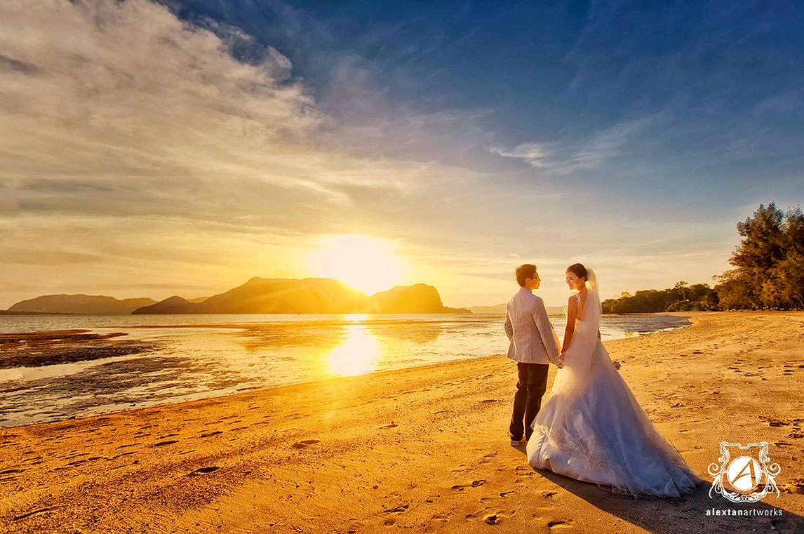 Pre-wedding photoshoot in Langkawi. Photo by Alextan Artworks