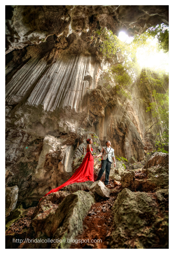 Pre-wedding photoshoot in Ipoh, Malaysia. Photo by Bridal Collection