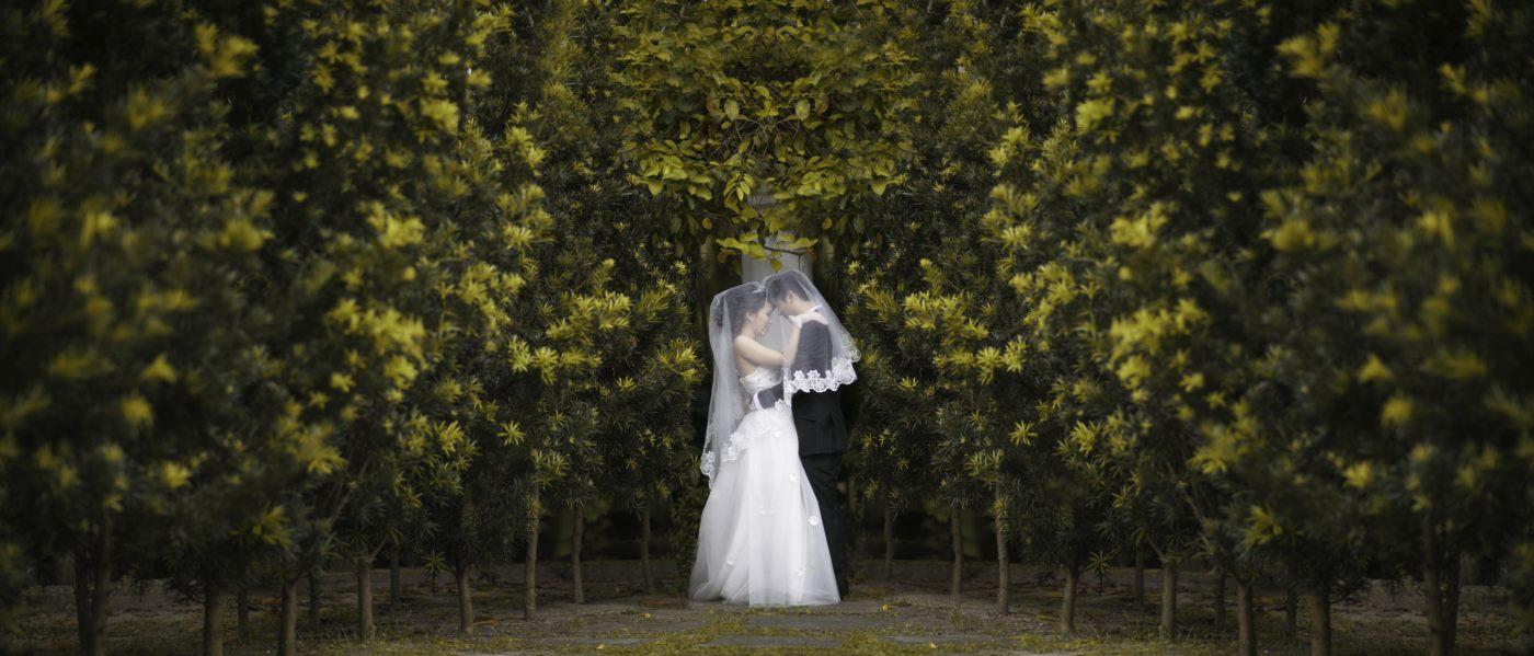Pre-wedding photoshoot in Kuala Lumpur. Photo by Irvin Studio