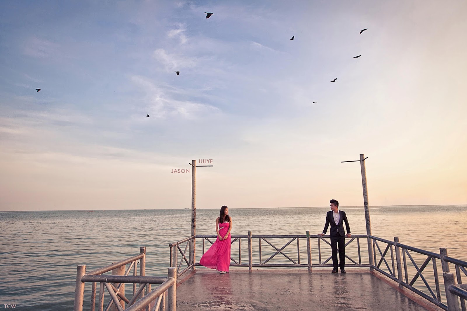 Pre-wedding photoshoot in Malacca. Photo by TCW Photography