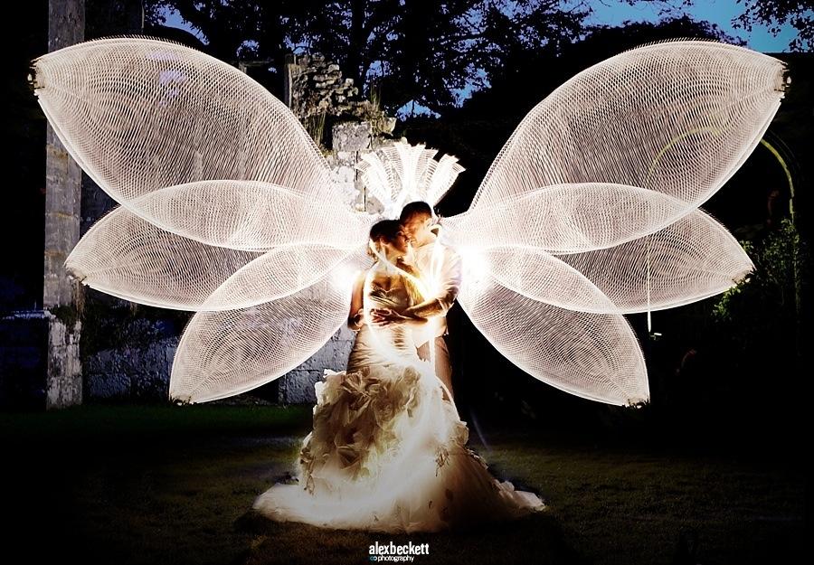 065-AlexBeckett-Wedding-Angel-Light-painting-portrait-Slaugham-Place-Haywards-Heath-West-sussex-dramatic