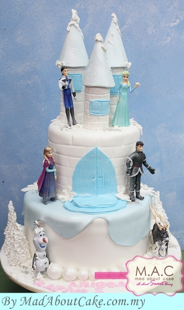Ice tower Frozen cake from the movie. Made by Mad About Cake