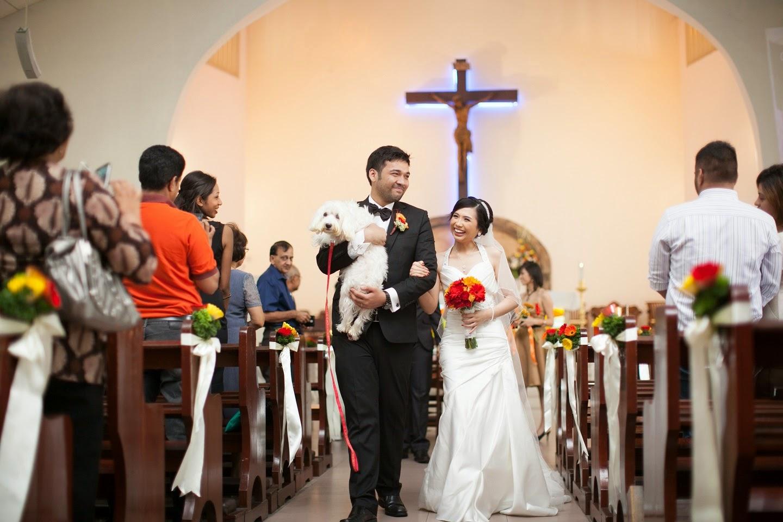Dog Becomes Bridesmaid in Beautiful Wedding Ceremony in Petaling Jaya