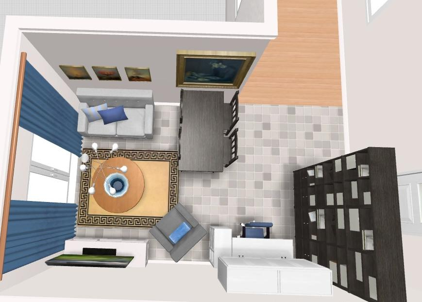 Bonnieblue 3D render living room