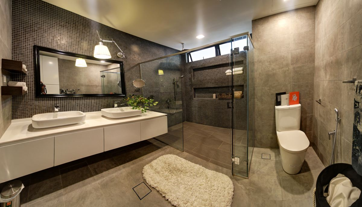 a minimalist design bathroom is simple and uncluttered