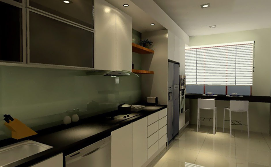 30 kitchens from malaysian interior designers for Kitchen decoration malaysia