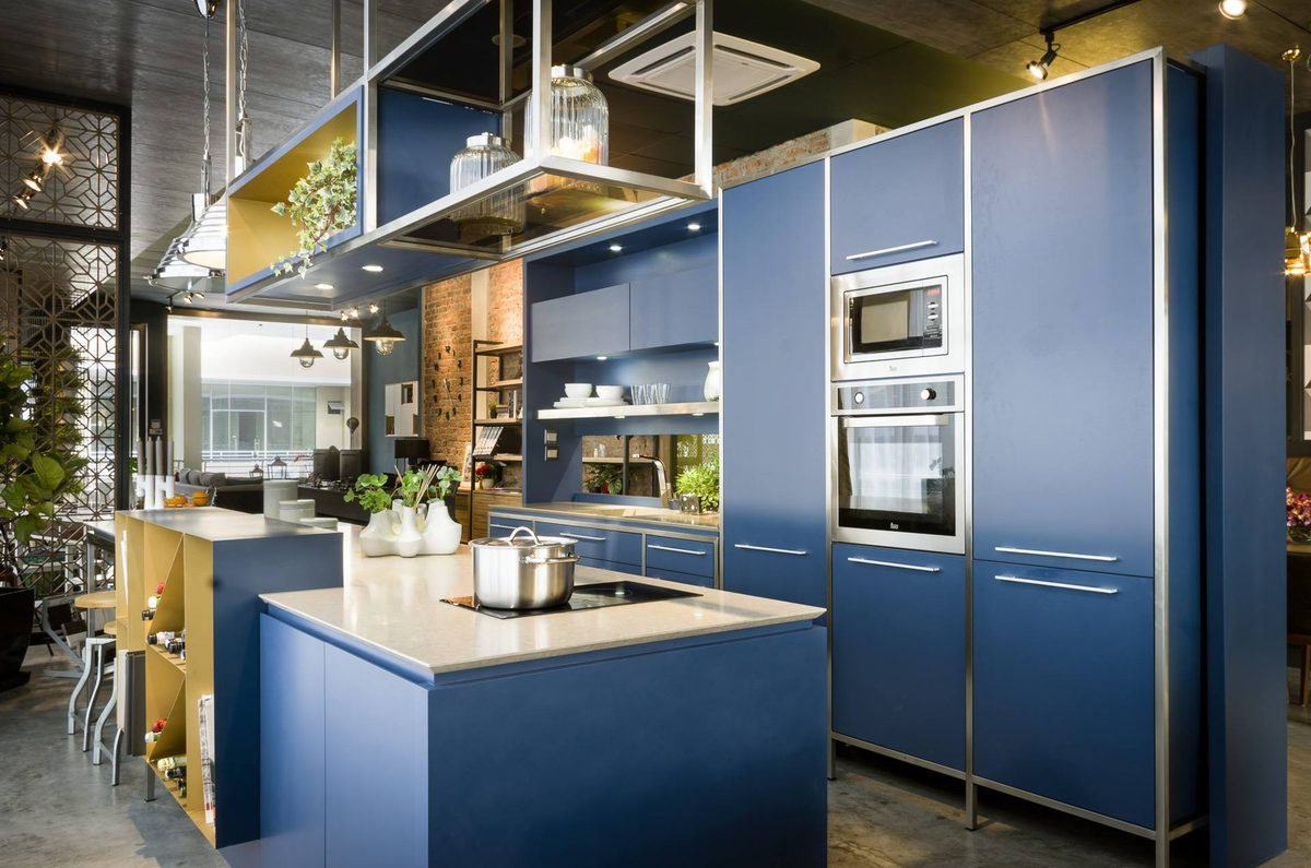 Blue kitchen by Team BJ Design