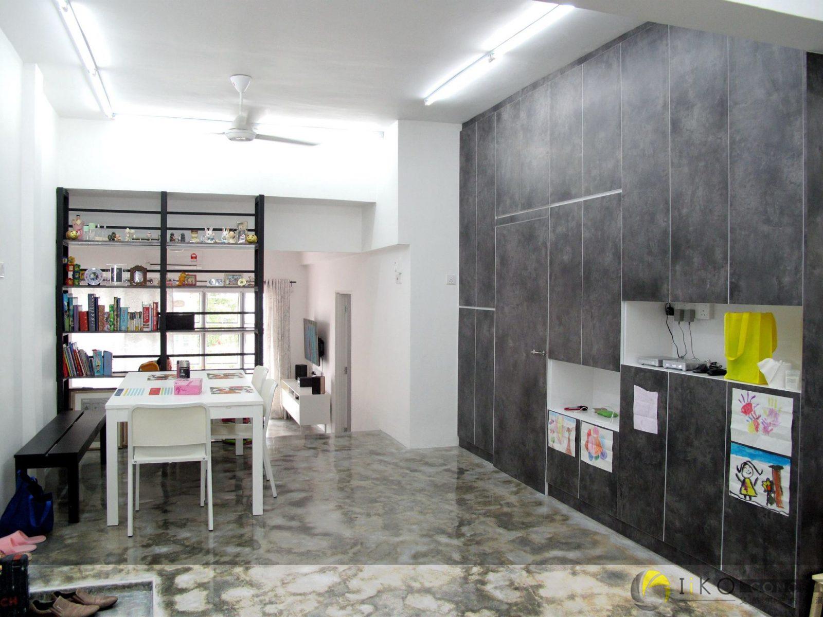 Hallway design with storage cabinet by IIKO