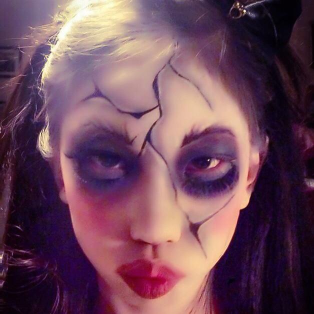 Halloween makeup by Carolyn Leong