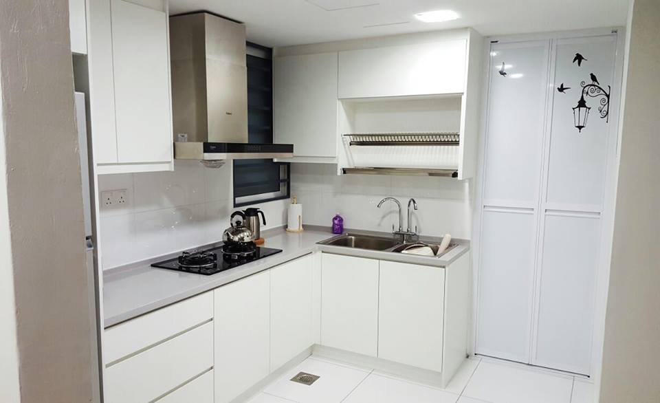 L shaped kitchen by Renovation Equal Design Services