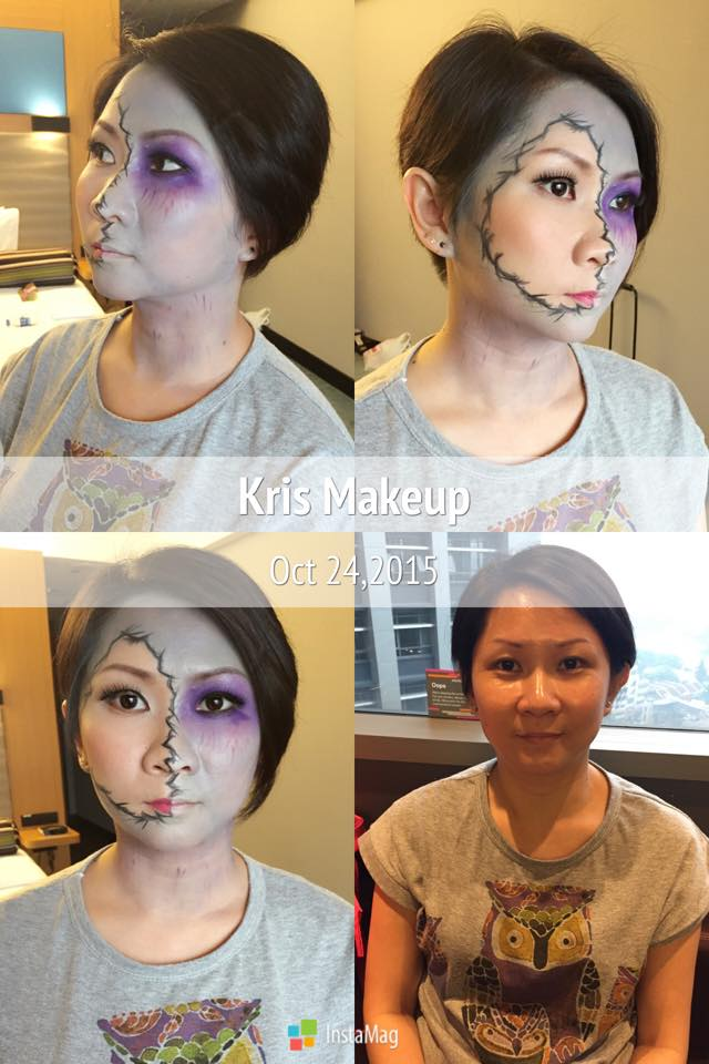 Halloween makeup by Kris