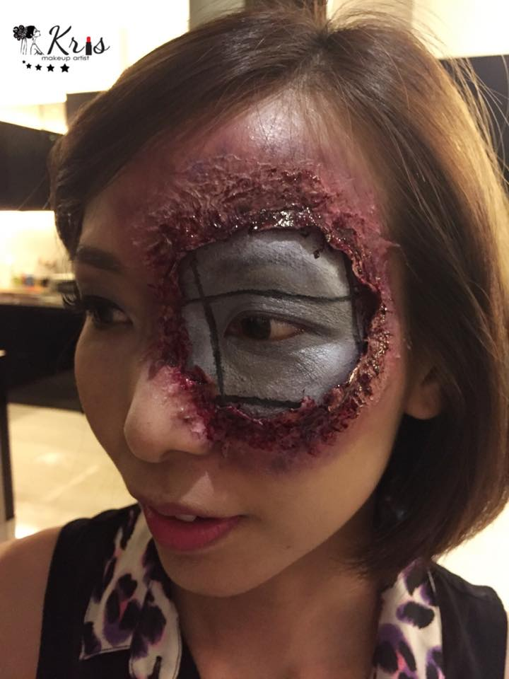 Terminator makeup halloween by Kristen Tang
