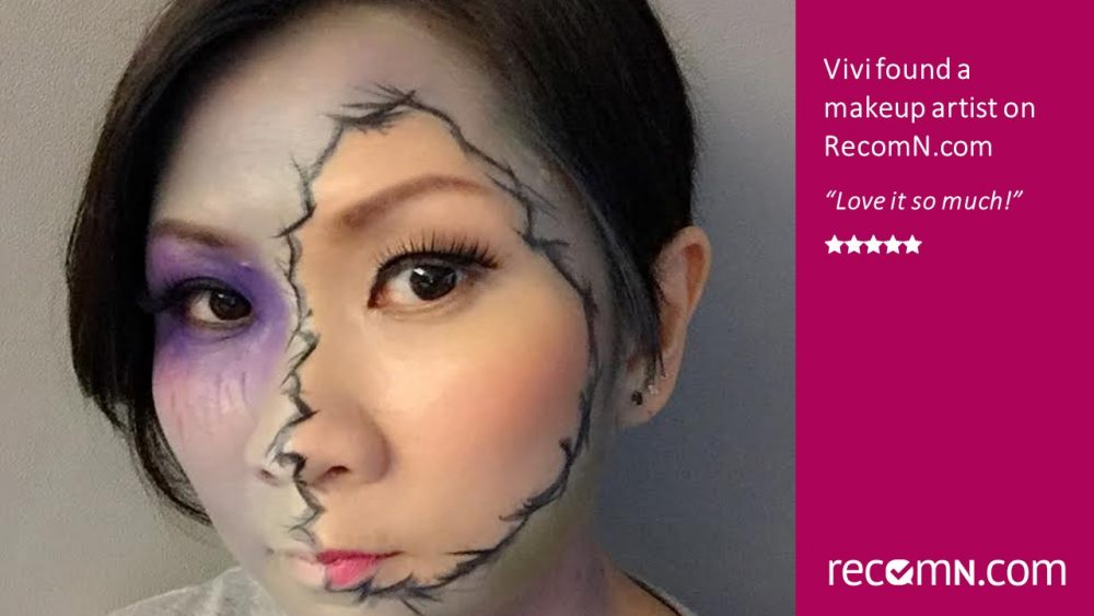 Vivi found a makeup artist on RecomN.com