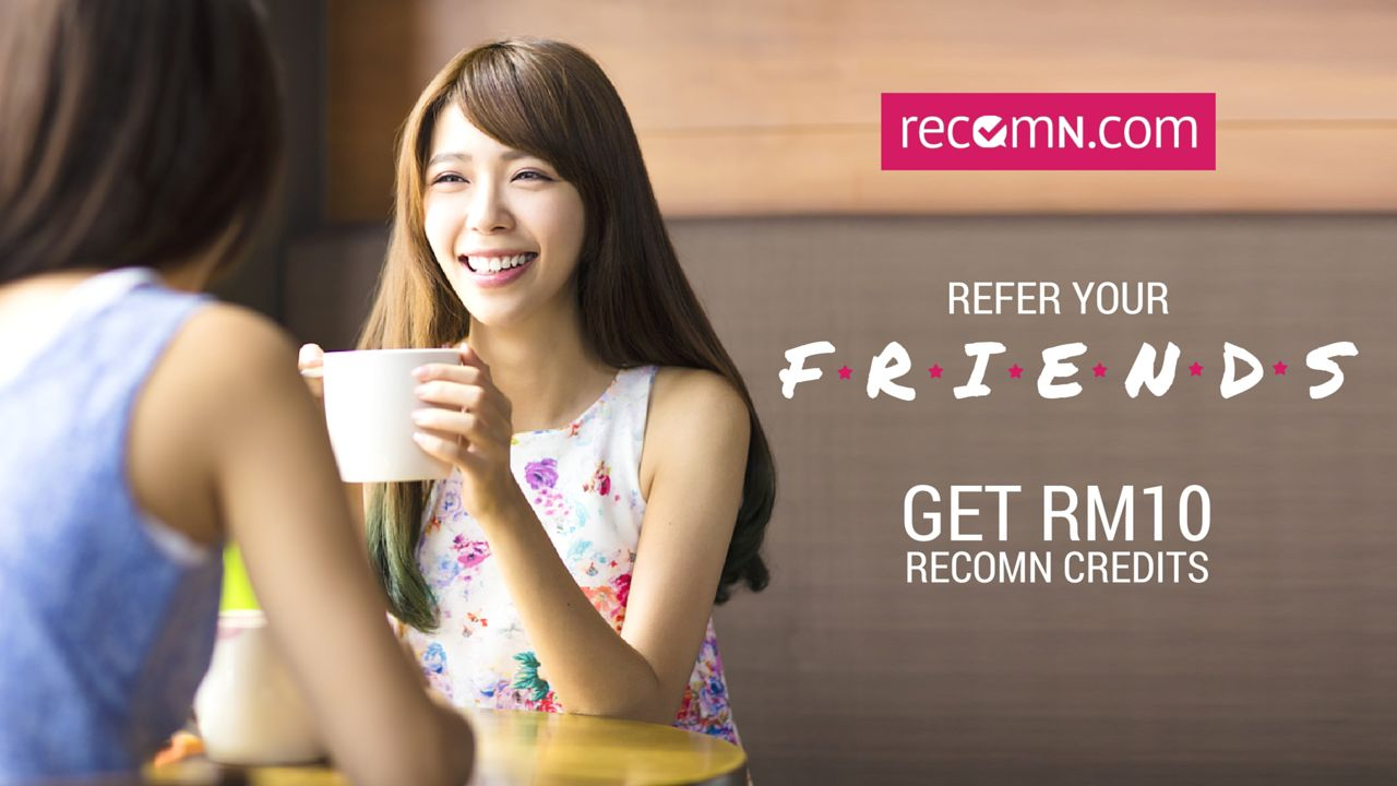 Invite a Friend to RecomN.com and Get RM10 Credits