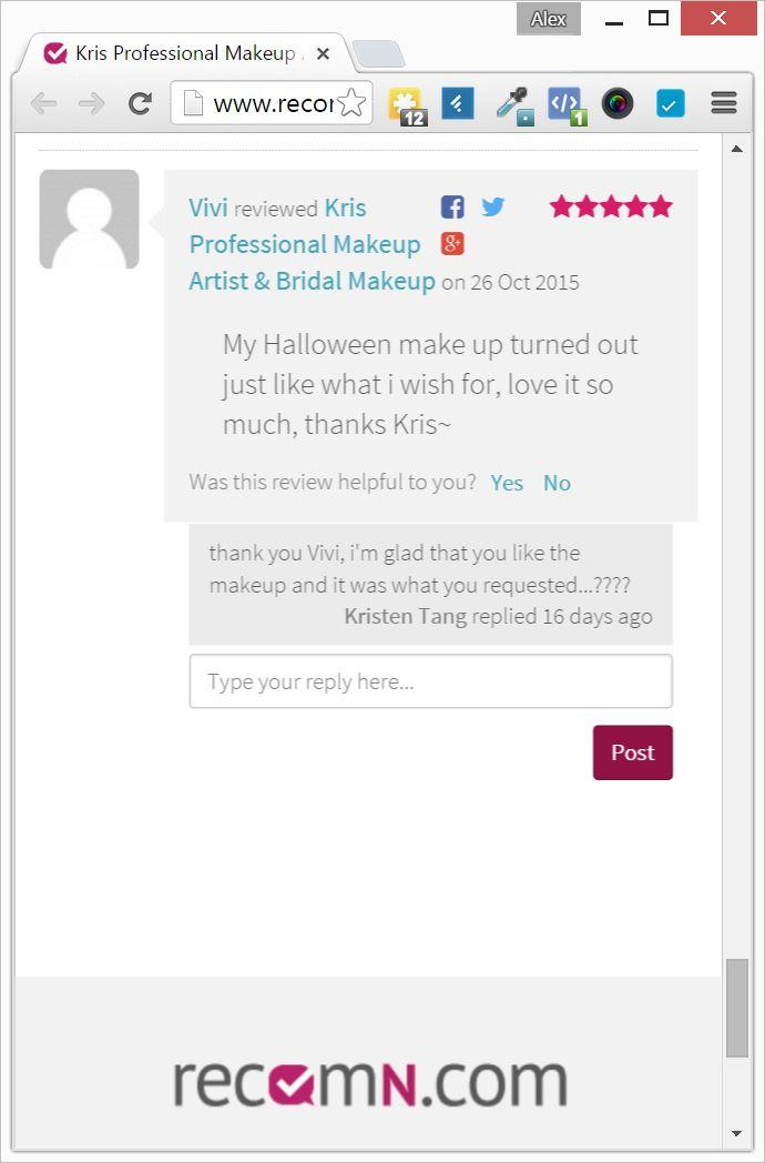 Review of Kris Makeup by Vivi Ong