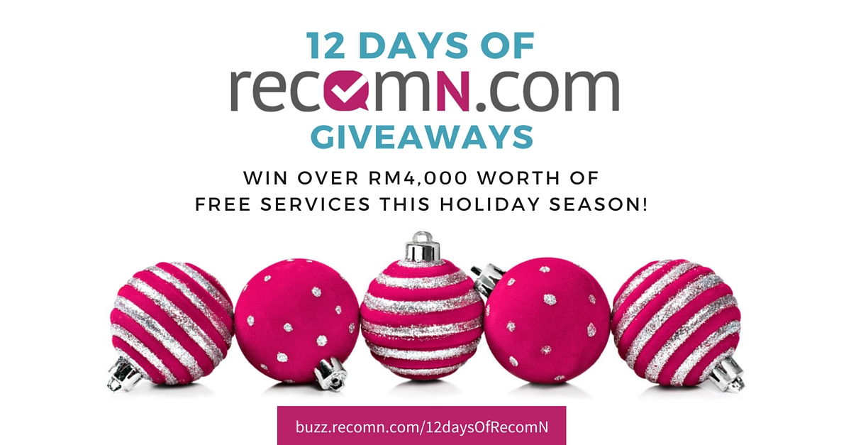 Welcome to the 12 Days of RecomN Giveaways!