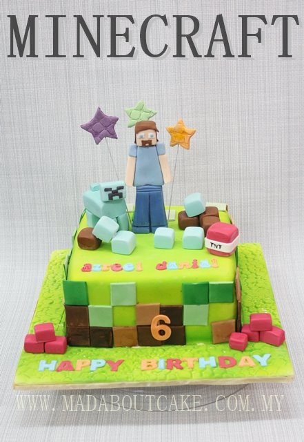 Marshmallow-inspired Minecraft by Mad About Cake
