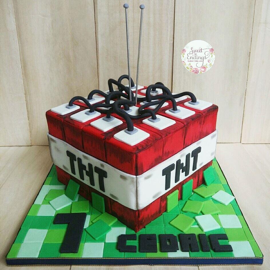 TNT Minecraft cake. Explosive! by Sweet Endings