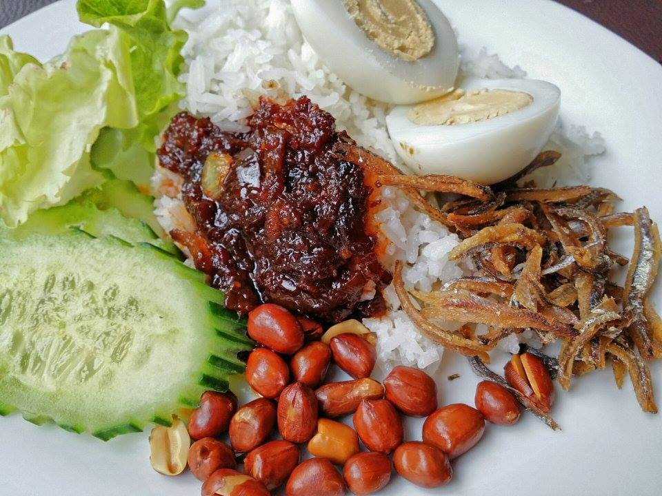 Nasi lemak from Serai. Source