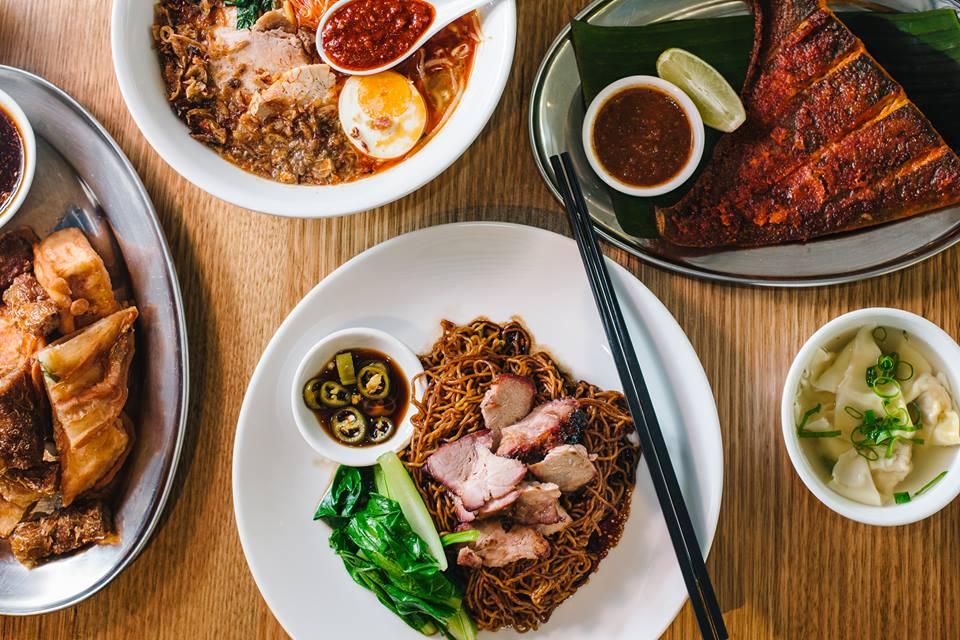 Hawker dishes from Hawker, Sydney. Example of dishese from Malaysian restaurants