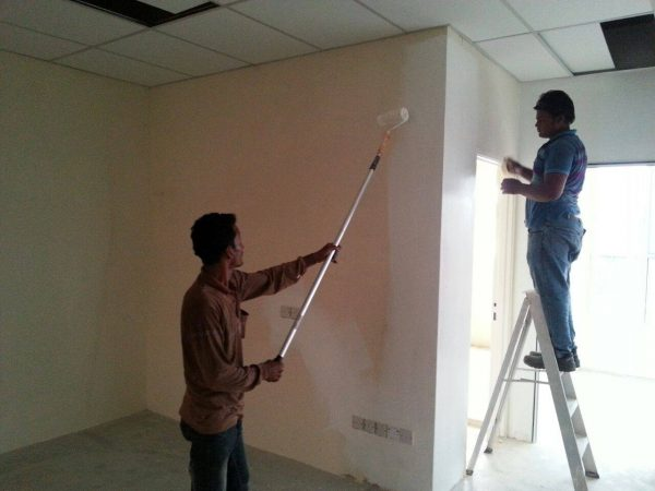 Interior wall painting by Hin Construction Sdn Bhd. Source.