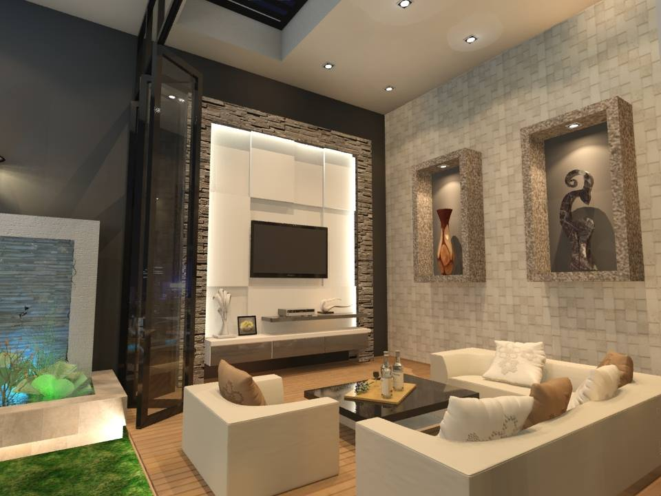Living room by QM Designs. Source