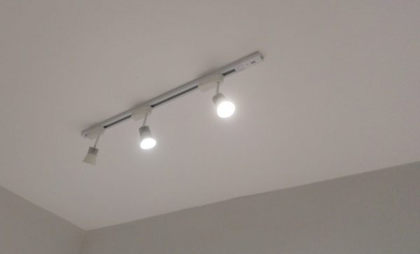 LED track lights by L&L Renovation & Electrical Services. Source.
