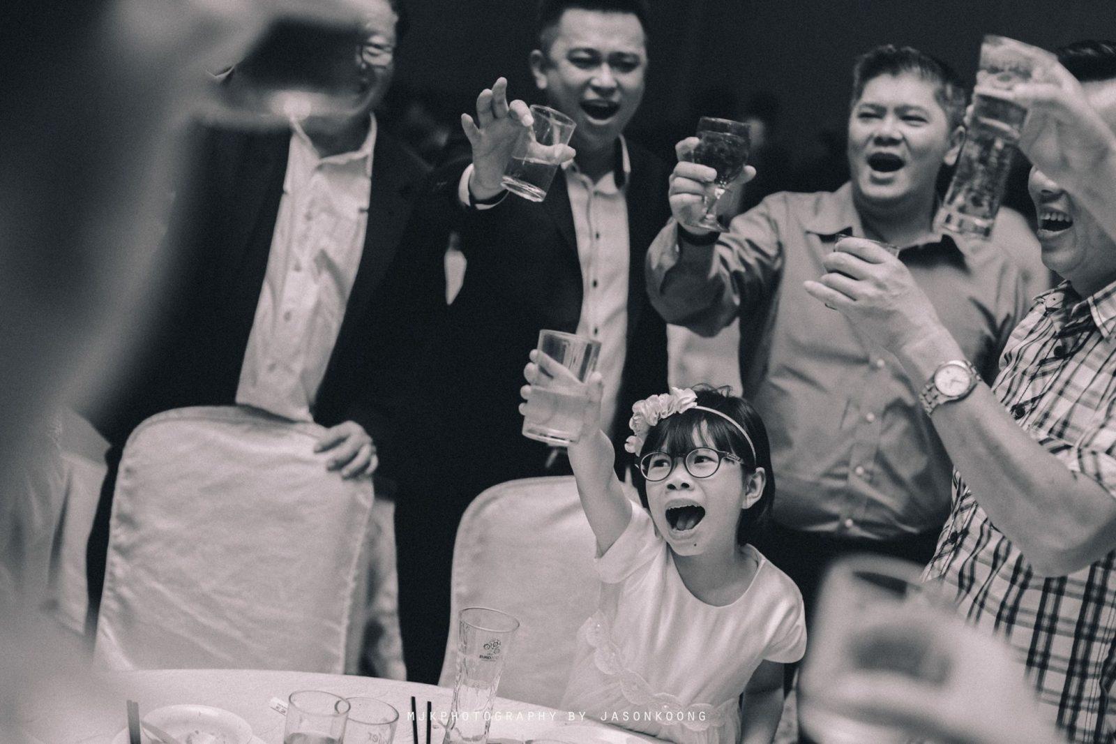 Wedding Toast Photography by MJK Photography