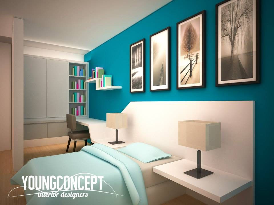Interior designers and renovation contractors with a design team can provide fully customised designs in 3D rendering. Photo by Young Concept Design Sdn Bhd. Source.