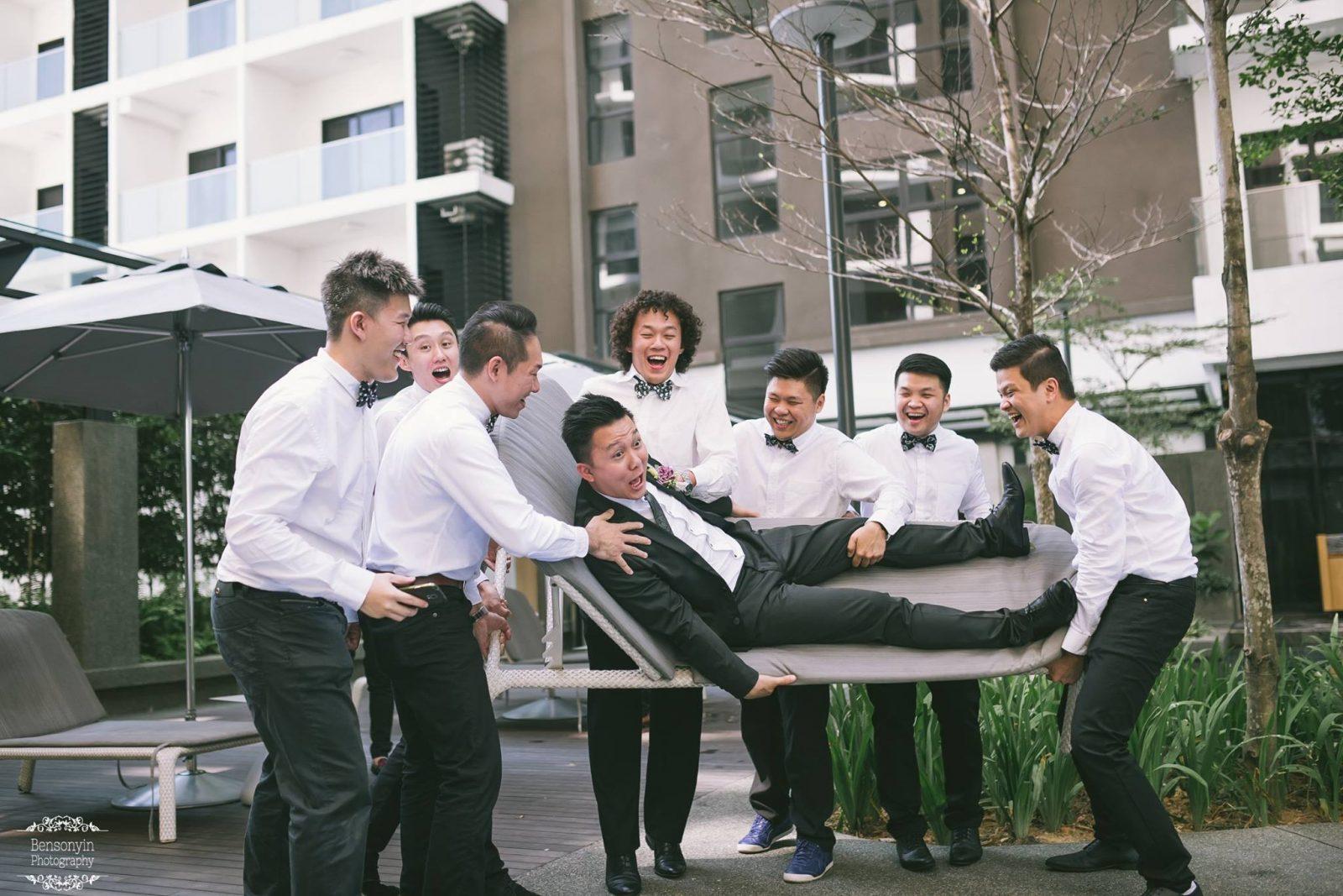 Wedding groomsmen - wedding photography by Benson Yin