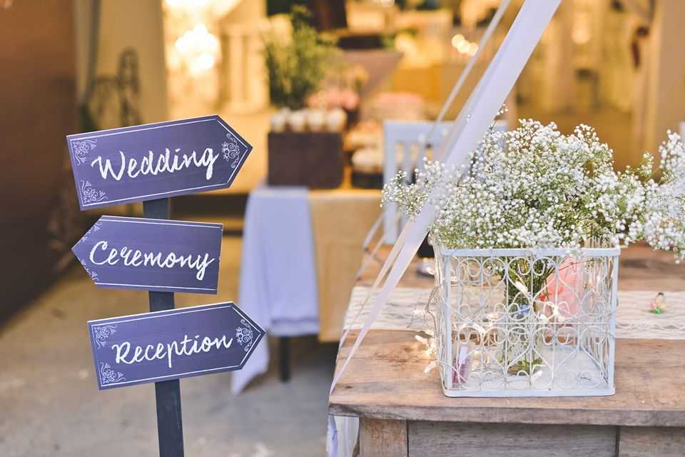 Wedding reception table photo by Andrew Yep Photographie. Source