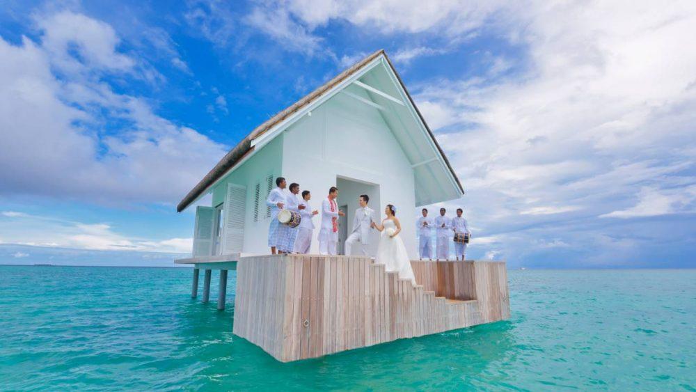 Four Seasons Maldives wedding landaa giraavaru