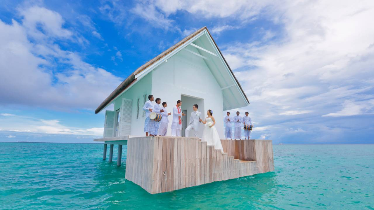 Four Seasons Maldives wedding landaa giraavaru
