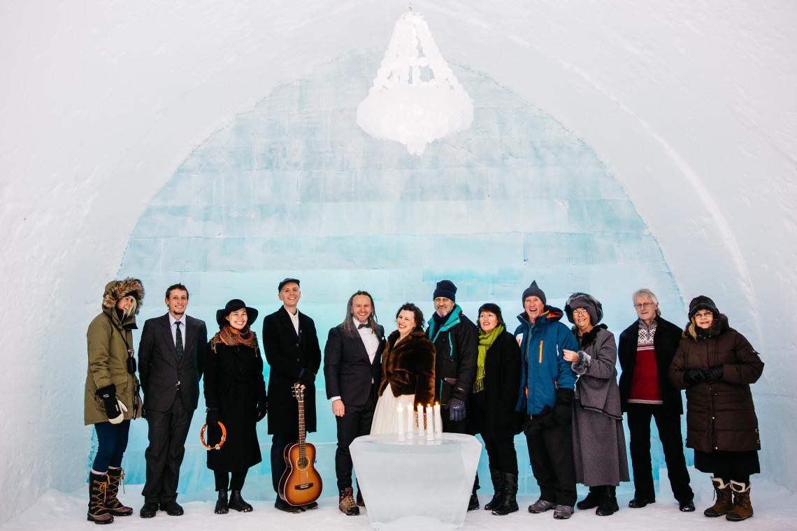 Sweden icehotel wedding