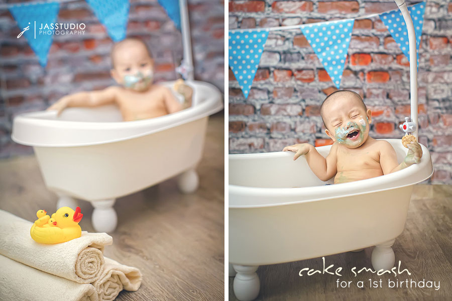 cake smash photography Jass Studio