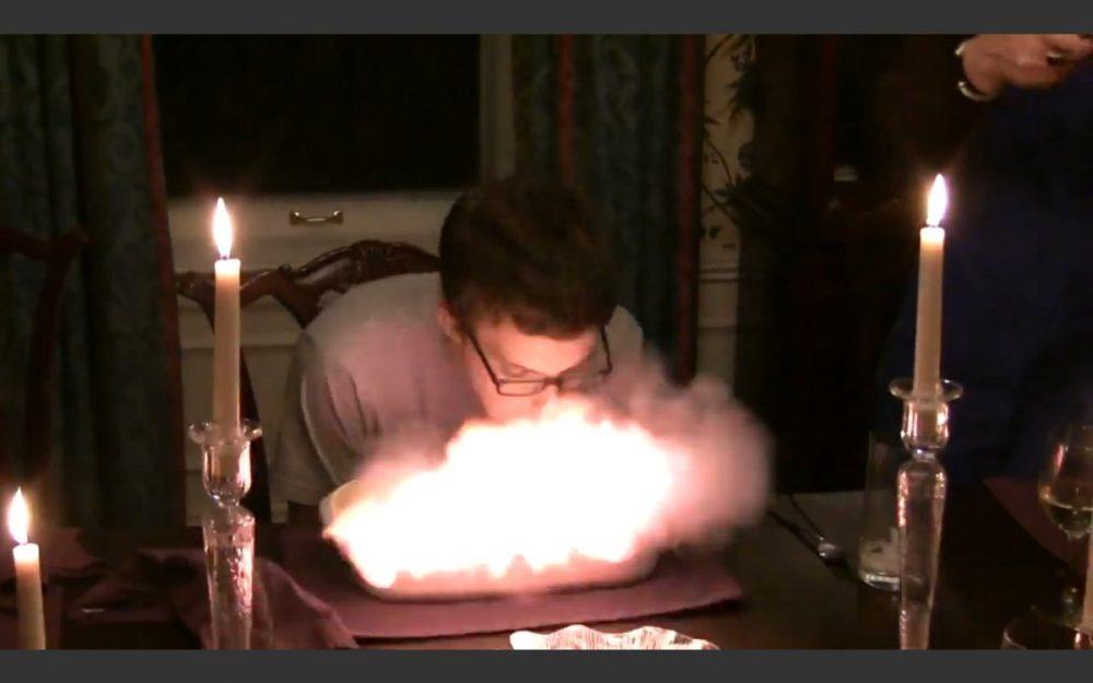 Birthday Cake Explodes In Boys Face