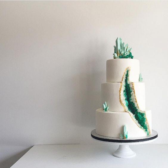 Geode cake design
