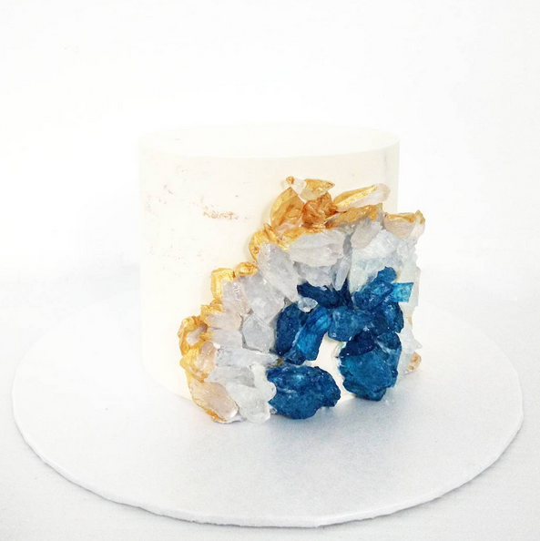 Blue agate geode cake by Peh' Stry - RecomN.com bakers malaysia