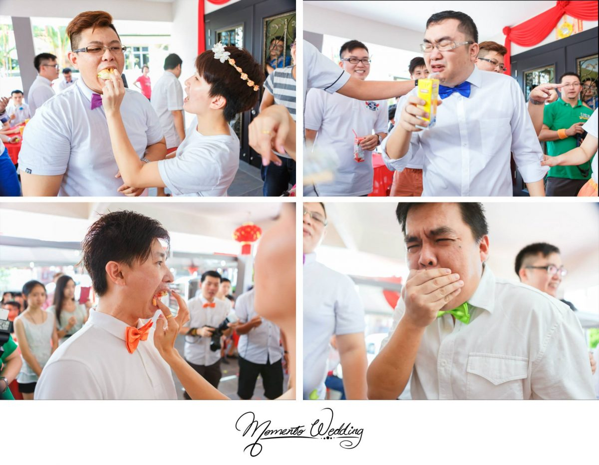 Free food tasting. Photo by Momento Wedding