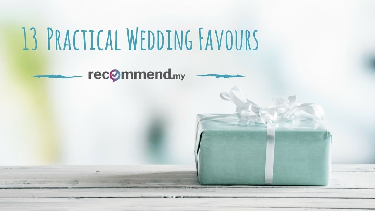 Practical Wedding Favours That Your Guests Will Actually