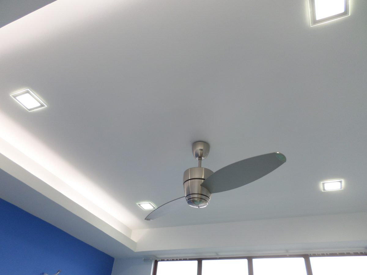 Switch from aircon to fans for energy efficient home design. L&L Renovation & Electrical Services.