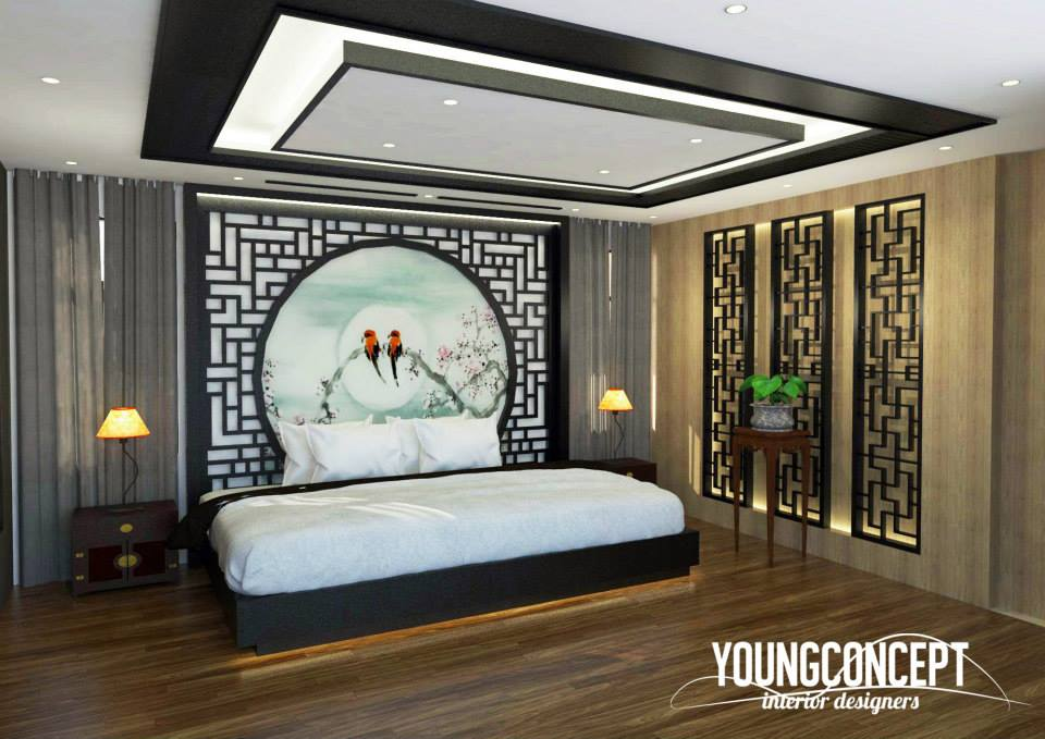 Bedroom interior design by Young Concept Design Sdn Bhd