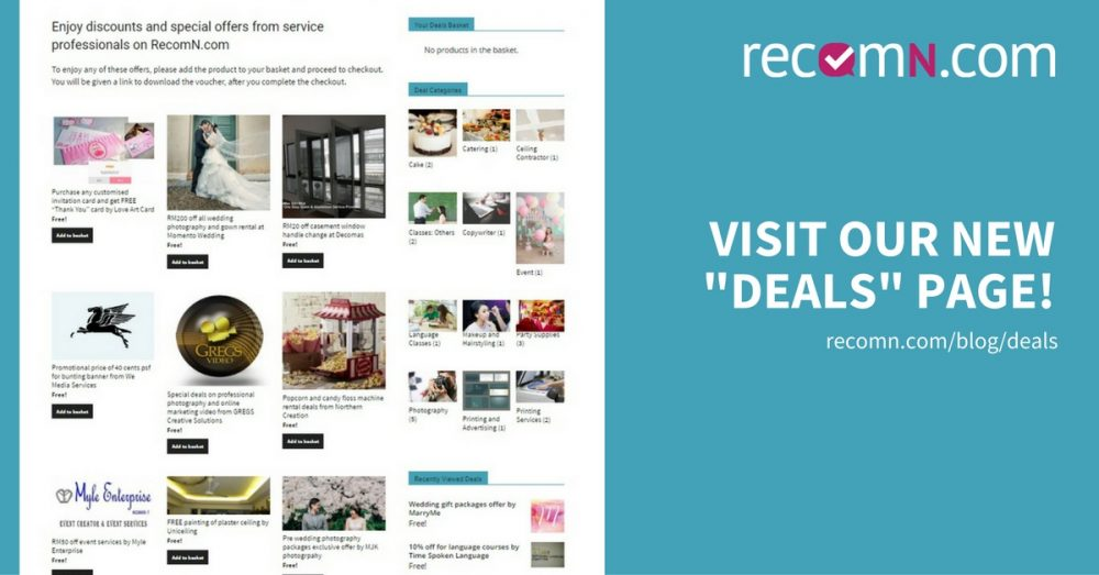 RecomN Deals and Service Packages