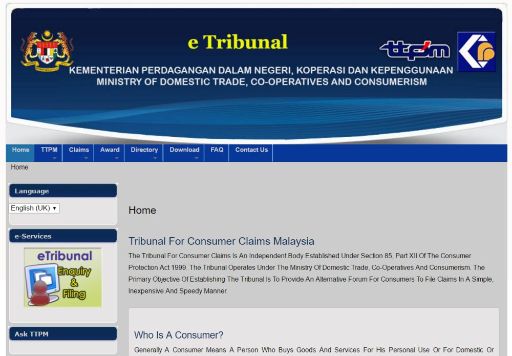 Tribunal For Consumer Claims Malaysia