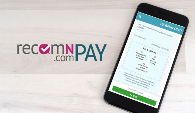 RecomN Pay - convenient way to pay for services in Malaysia