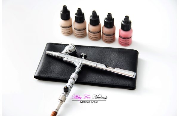 Airbrush makeup artists's kit. By Abby Foo Makeup. Source.